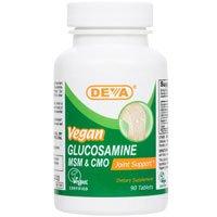 Deva Vegan Vitamins Glucosamine, MSM, CMO, 90 Tablets
