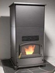 BRECKWELL BIG E Home Heater WOOD PELLET Stove, w Hopper Extension