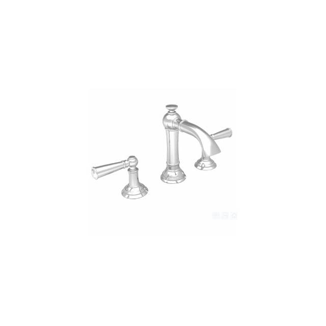 Newport Brass 2410/15 Aylesbury Widespread Lavatory Faucet with Lever Handles, Tall Country Base, and 1/2 Valves, Polished Nickel