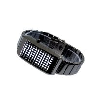 ROOT Black Stainless Steel LED Watch