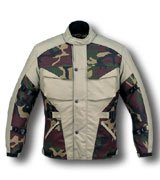 Men's HL-2829 Camouflage Duratex Motorcycle Jacket Sz XL