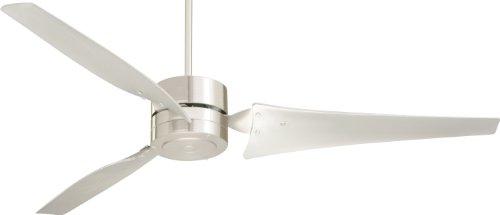 Emerson Hf1160Bs Heat Fan, Indoor Ceiling Fan, 60-Inch Blade Span, Brushed Steel Finish, Brushed Steel Blades