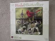 Birds & Butterflies 550 Piece Puzzle The Cardinal