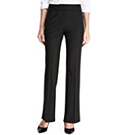 M&S Collection New Wool Rich Luxury Split Waistband Trousers