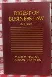 Digest of Business Law (0314931848) by Hagen, Willis W.