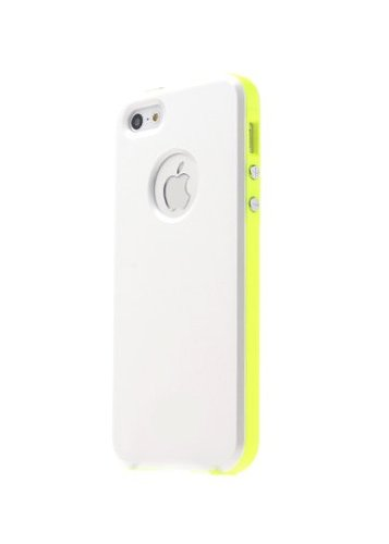 Great Price GabbaGoods GG-iHC-WHTNGN Ultra Sleek Slim-Fit Case for iPhone 5 - Retail Packaging - White Gloss/Neon Green