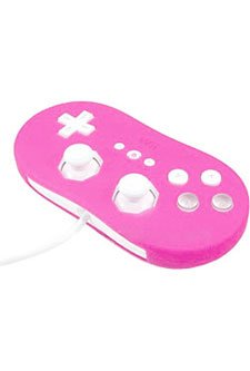 Pink - Nintendo Wii Skin Cover For Classic Controller