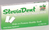 SteviaDent Chewing Gum, 12 pieces