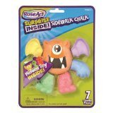 "RoseArt Surprise Inside! SIdewalk Chalk ""Monster"" 7 Colorful Pieces"