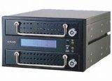 【Accordance】ARAID99-1000L-A/M-B PATA to PATA 黒メタルベゼル2ベイ内蔵型RAIDボックス