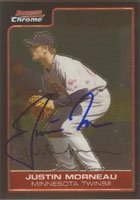 Justin Morneau Minnesota Twins 2006 Bowman Chrome Autographed Hand Signed Trading... by Hall+of+Fame+Memorabilia