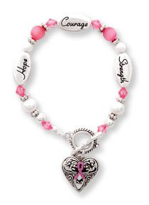 Breast Cancer Awareness Silver & Crystal Expressively Yours Bracelet