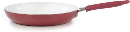 WearEver C94307 Pure Living Nonstick Ceramic Coating Scratch Resistant FTFE PFOA and Cadmium Free Dishwasher Safe Oven Safe Saute Pan Fry Pan Cookware, 12-Inch, Red (Wearever Ceramic Frying Pan compare prices)