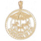 CleverEve 14K Gold Charm Carousels 3.2 Grams