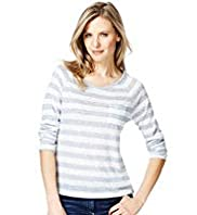 Striped Top with Linen