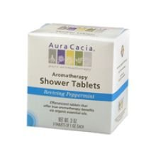 Aura Cacia Reviving Peppermint Aromatheraphy Shower Tablet, 0.3 Ounce -- 6 Per Case.