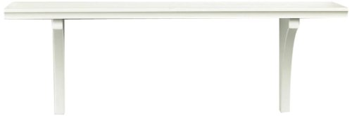 InPlace Shelving 0199834 23-Inch Wide Oak Mission Shelf with Bracket, White (Extra Wide Floating Shelves compare prices)