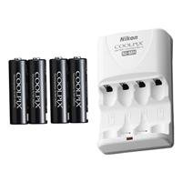 Nikon EN-MH2-B4/MH-73 2 hour Charger with 4 2300mAh Ni-MH AA Rechargeable Batteries - Retail Packaging