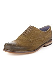 Autograph Leather Stain Defence™ Layered Suede Brogue Shoes