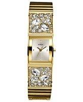 GUESS Women's U0002L2 Gold-Tone Bejeweled Watch