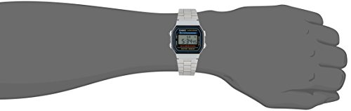 Casio Men's A168W-1 Stainless Steel Watch 2