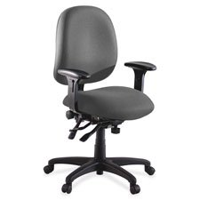 Lorell High-Performance Task Chair, 27-1/4 by 25-1/4 by 41-1/2-Inch, Gray