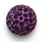 Bijoux By Me 12mm Pflaster-Fimokristallset Shamballa Armbandperlen - DIY Schmuckmachen Lila 1 Stück