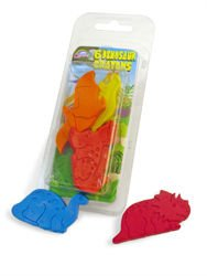 6 Piece Assorted Dinosaur Shaped Crayons