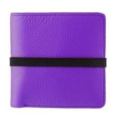 Marc By Marc Jacobs Pebble Leather Elastic Billfold Wallet Purple