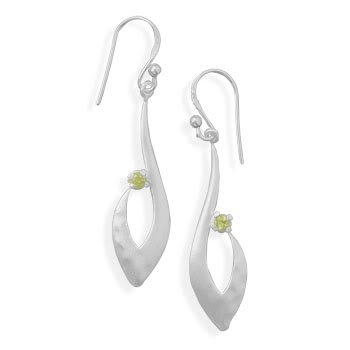 Matte Finish Peridot Earrings