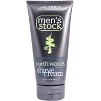 Men'S North Woods Shave Cream Aubrey Organics 6 Oz Cream