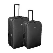 Confidence 2 Piece Deluxe Expandable Suitcases with Wheels - BLACK from Confidence
