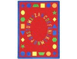 "Joy Carpets Kid Essentials Early Childhood First Lessons Rug, Red, 7'8"" x 10'9"""