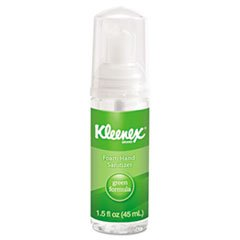 -- KLEENEX Green Certified Foam Hand Sanitizer 1.5 oz Clear 24/Carton