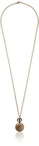 JewelryWe Gioielli collana con pendente da uomo donna retro Bronzo Antico Eiffel Torre dipinto bianco Quadrante quarzo Orologio da tasca(con sacchetto di regalo)