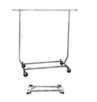 Metropolitan Display Collapsible Rolling Garment Clothing Rack (Clothing Displays compare prices)