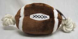 Plush & Rope Football Dog Toy, 12