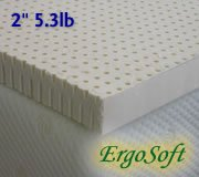 Natural Latex Foam Mattress Pad Topper - 2-inch Medium-Firm 5.3 lbs. latex foam, Standard King