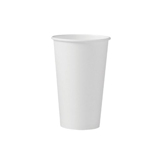 SOLO 316W-2050 16 Oz. White Paper Hot Cup Singlepoly (50 Tubes of 20)