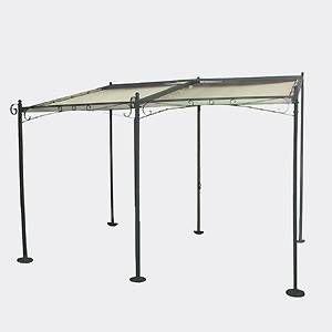 profiline stahl terrassenmarkise pavillon metall. Black Bedroom Furniture Sets. Home Design Ideas