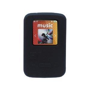 GTMax caoutchouc silicone souple Housse Etui - noir pour Sandisk Sansa Clip 4 Go Zip 8 Go Lecteur MP3 (2011 modèle)