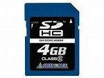 GREEN HOUSE SDHCメモリーカード4GB(MLCチップ採用) GH-SDHC4G6M