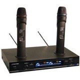 Pyle-Pro Pdwm3000 - Dual Vhf Rechargeable Wireless Microphone System
