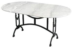 Bistrotisch marmor gahalia gartentisch tisch wei for Gartentisch marmor