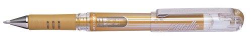 Pentel - Bolígrafo (punta de 1 mm, tinta de gel dorada), color dorado