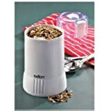 Salton Coffee and Spice Grinder, Hold upto 65 Grams of Coffee Beans, 10-Cups of Coffee, White