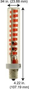 Led Exit Sign Light Bulbs Nmr20E17 Led Exit Bulb Red (Case Of 12)