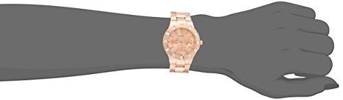 GUESS Women's U13013L1 Feminine Hi-Shine Rose Gold-Tone Mid-Size Watch