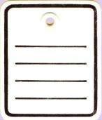 Étiquettes en carton imprimé (1000 étiquettes en carton avec œillet en) 40 x 50 mm