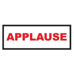 Applause Sign Party Accessory (1 count)